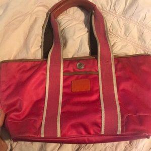 Pink vinyl coach Bag